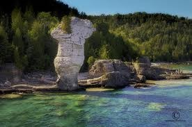 Tobermory in the Bruce Penninsula, Ontario    It has the unique geological formations of Flowerpot Island and coastal cliffs that are features that attract visitors from around the world. Tobermory is the core area of the UNESCO Niagara Escarpment World Biosphere Reserve. A perfect getaway spot for naturalists, photographers, divers, hikers, kayakers looking for that special place.