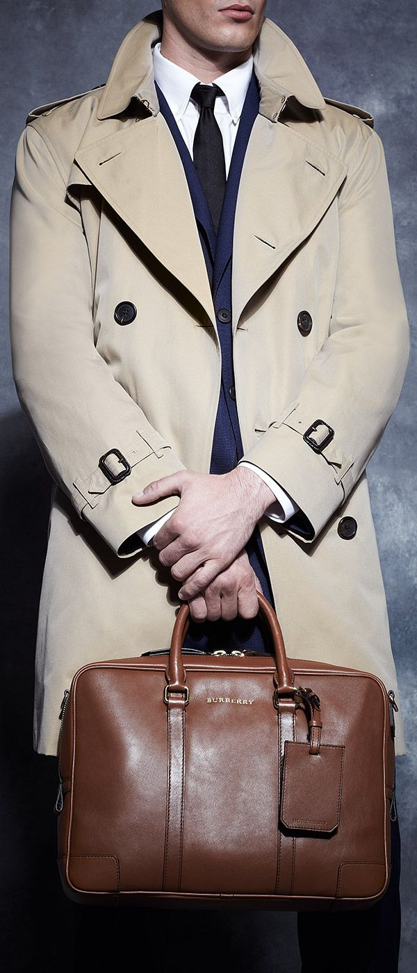 Look to #Burberry's menswear staples for top-notch professional style.