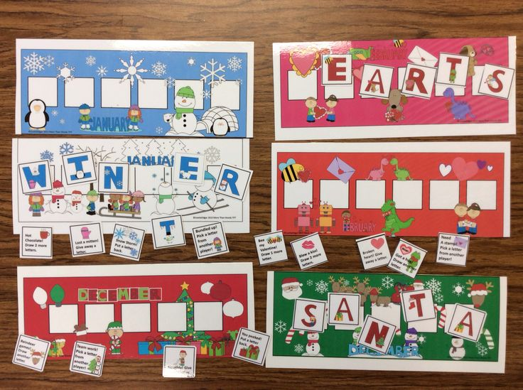 $ Winter, Valentine and Christmas fun! 3 printable speech therapy games- one for each month. Spell the word Santa, Winter or Hearts to win the game. Pre K can match letters to template! Includes games, vocabulary lists and language development questions. Perfect as an open-ended motivational activity with any target. Seasonal Vocabulary • Categories • Name to a Description • Object Function • Where? What? Who? • Prepositions • Yes/No questions