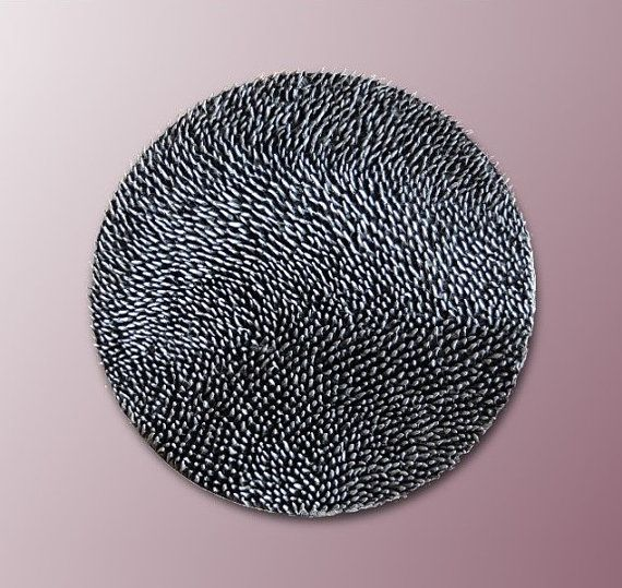 Round Decorative Wall Panel   3D Abstract Texture  by JeemadoDecor