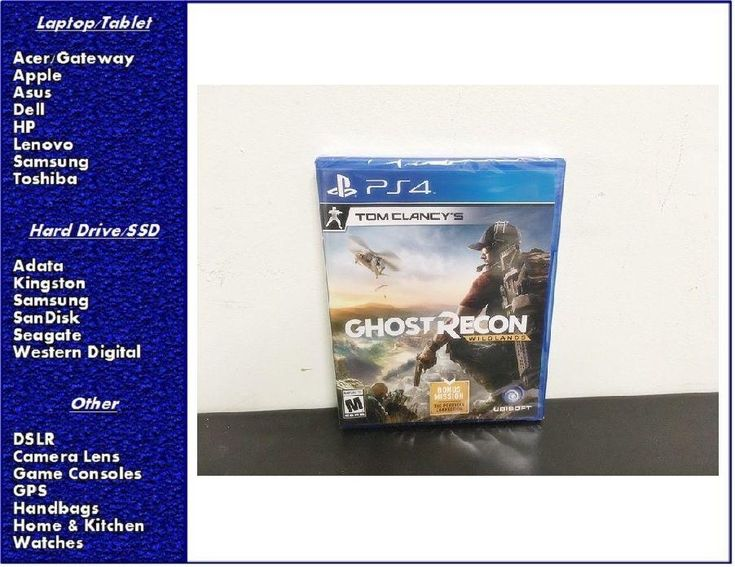#videogames #Gamers #playstation NEW Tom Clancy Ghost Recon: Wildlands PlayStation 4, Factory Sealed 38.00      Item specifics    									 			Condition:  												 																	 															  															 															 																Brand New: An item that has never been opened...