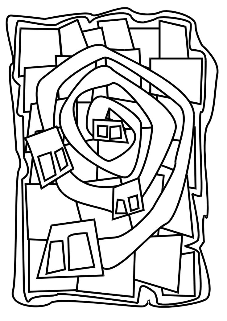Colouring picture Hundertwasser
