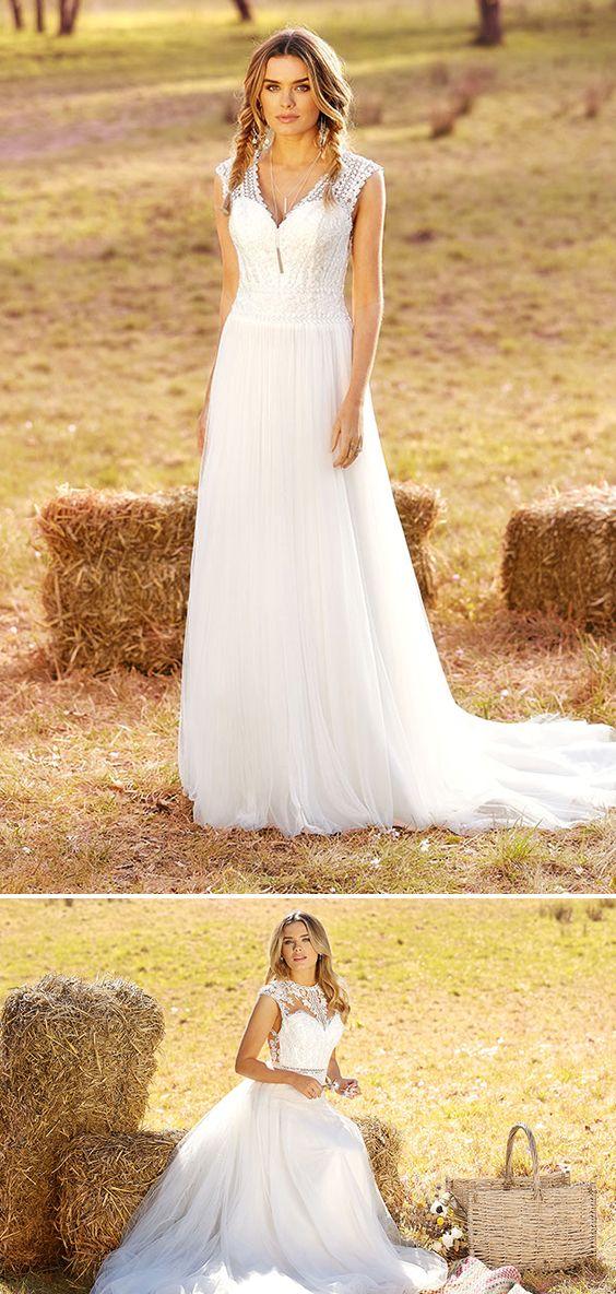 80e75d57edb Luftig leicht - die Brautkleider aus der neuen Bohemian Kollektion 2019 von  Ladybird! Verspielte Designs