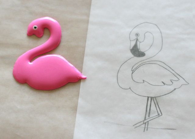 Pink Flamingo Cookies Royal Icing Transfers Amp Free