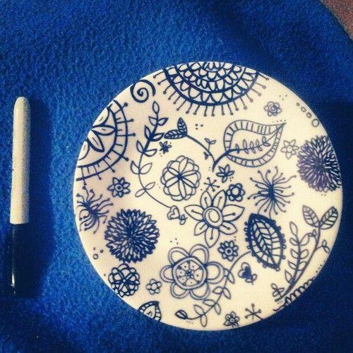 sharpie plates - Google Search