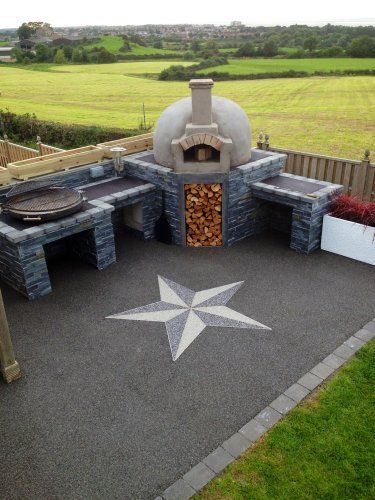 A beautiful newly finished outdoor oven!