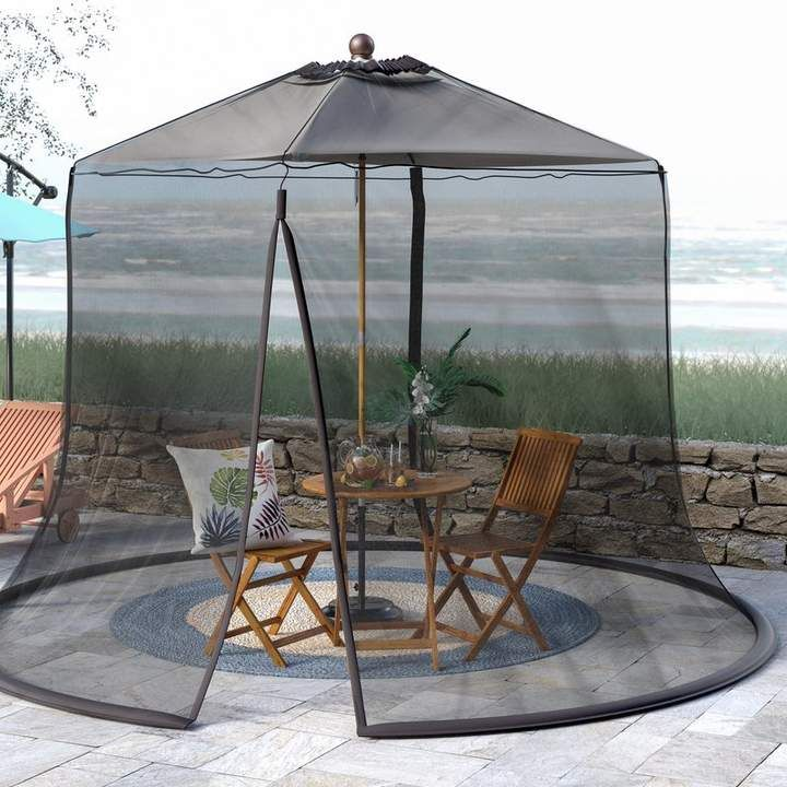 Blytheville Mosquito Net With Repellant Outdoor Umbrella Patio Freeport Park