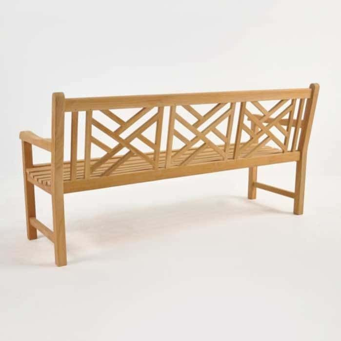 Elizabeth Teak Garden Bench 3 Seat Back View Teak Garden Bench Garden Bench Outdoor Bench