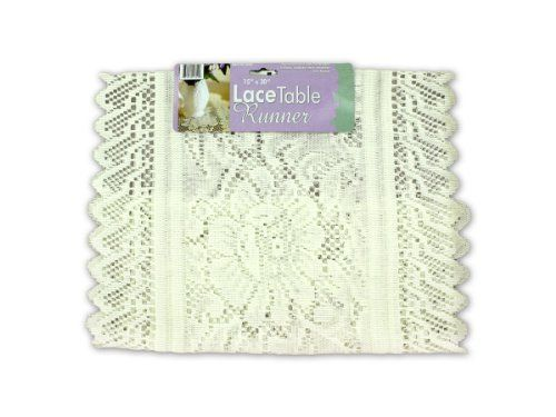Amazing Lace Table Runner   Case Of 96 Lace Table Runner   Case Of 96 By Bulk