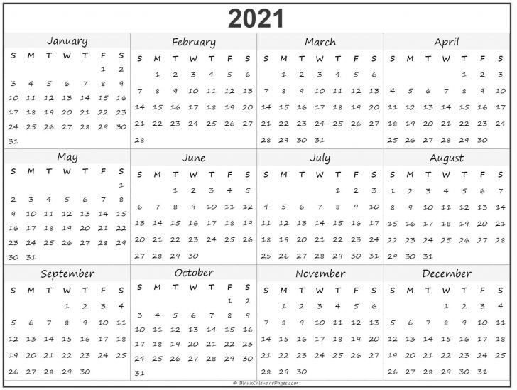 Print Calendar 2021 Free Template For Time Management Di 2020