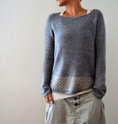 Пуловер женский спицами - новая модель 2016 года от Изабель Краемер
