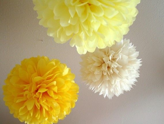 yellow poms