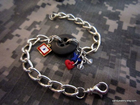 Military Button Bracelet I don't love deployments  by CandJjewelry, $26.50