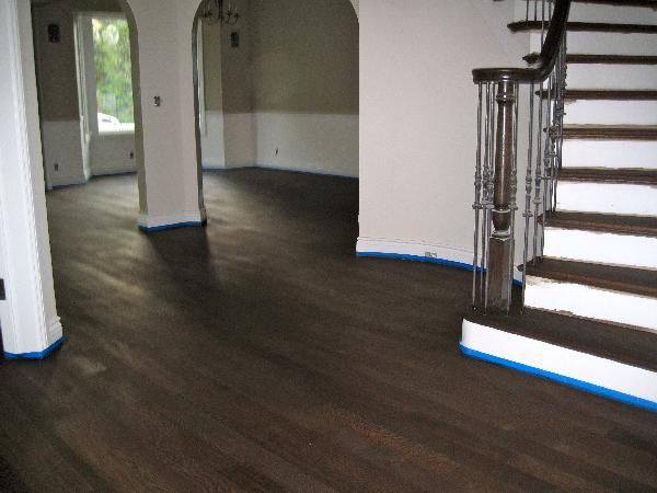 Rebecca1678 Newly Stained Floor 50 Ebony 50 Antique