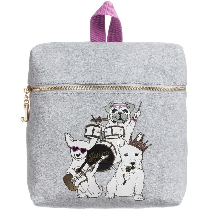 Juicy Couture Girls Grey Backpack (24cm) at Childrensalon.com