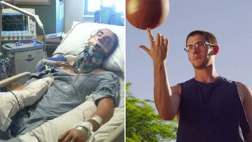 Diagnosed as brain-dead, man now back on basketball court and pursuing college degree