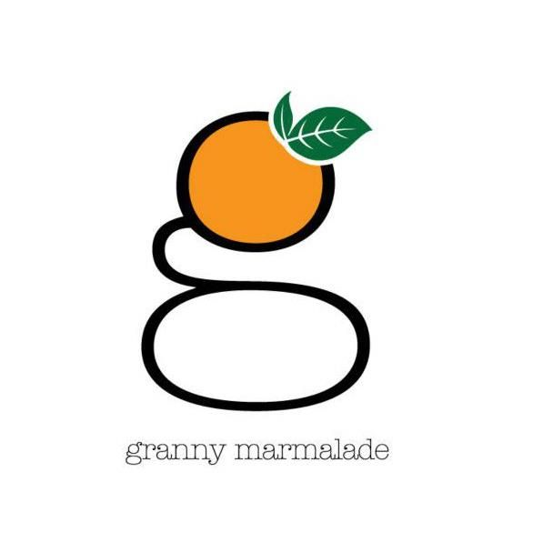 granny marmalade logo  fruit typography