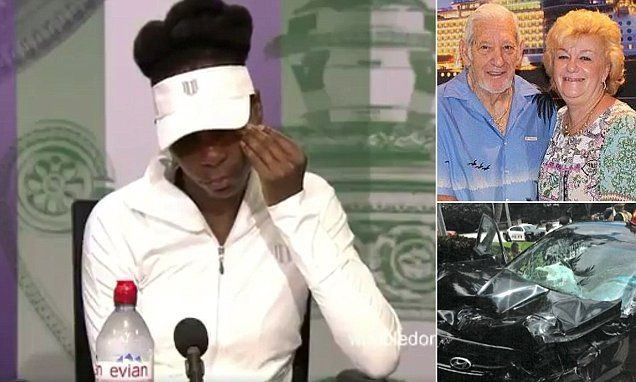 Venus Williams breaks down in tears talking about deadly Florida crash