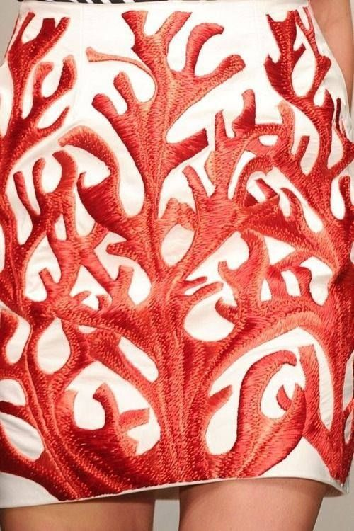 czerwień koralu