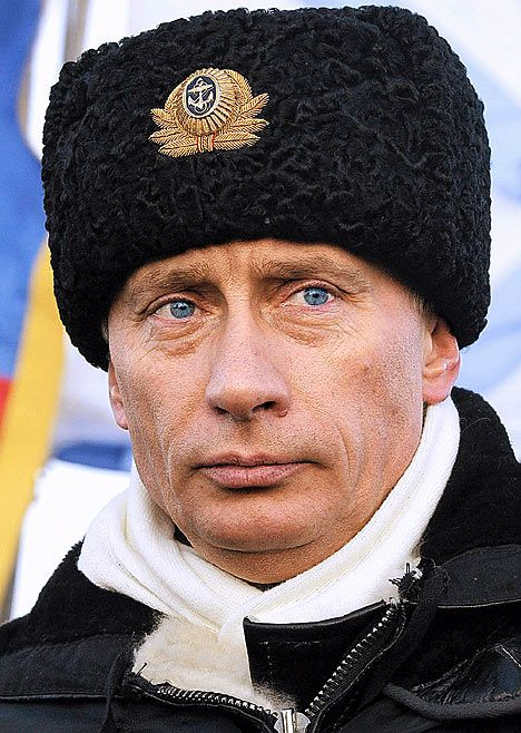 Vladimir Putin...KGB, hard liner and mysterious deaths of his opponents while overseas. President? Think people.