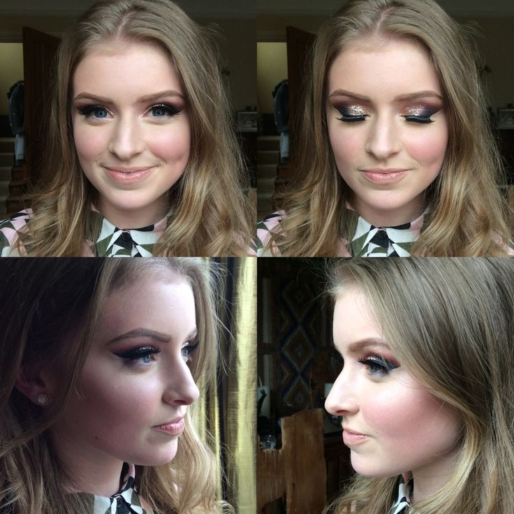 Prom makeup created by Evie Cox