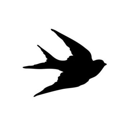oiseau hirondelle forme flex thermocollant customisation vêtement pas si godiche ! : Autres pièces pour créations par passigodiche
