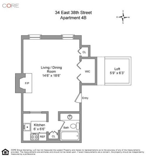 A murray hill loft studio for the fan of pullman car - Garage conversion floor plans ...