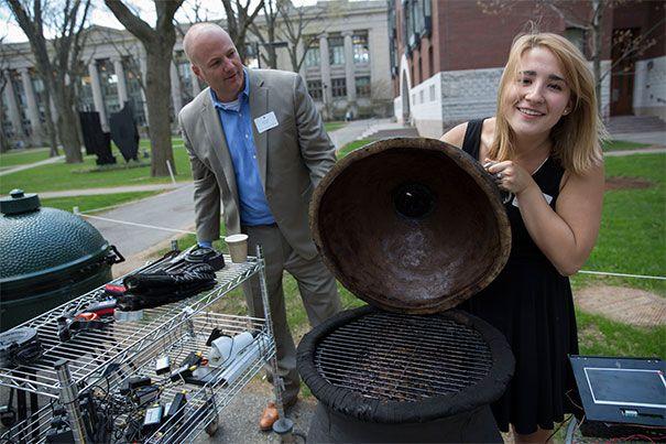 Harvard engineering class tries to make the best BBQ smoker.