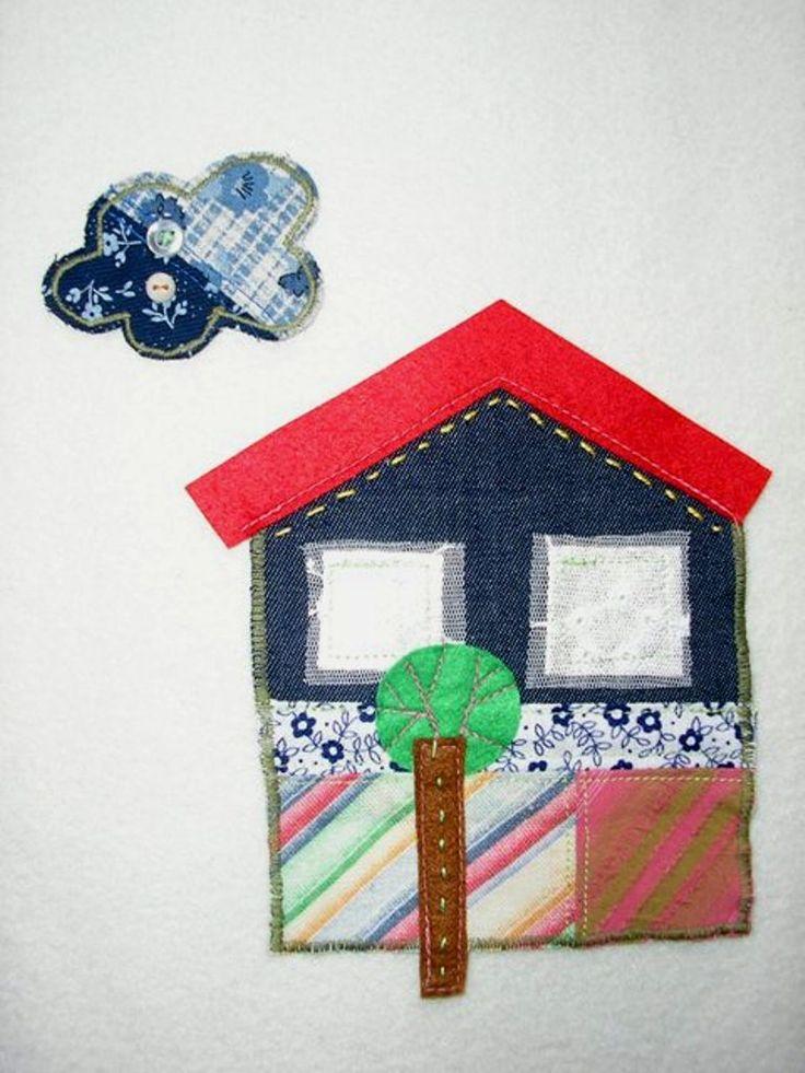 Textilné aplikácie - dom a oblak