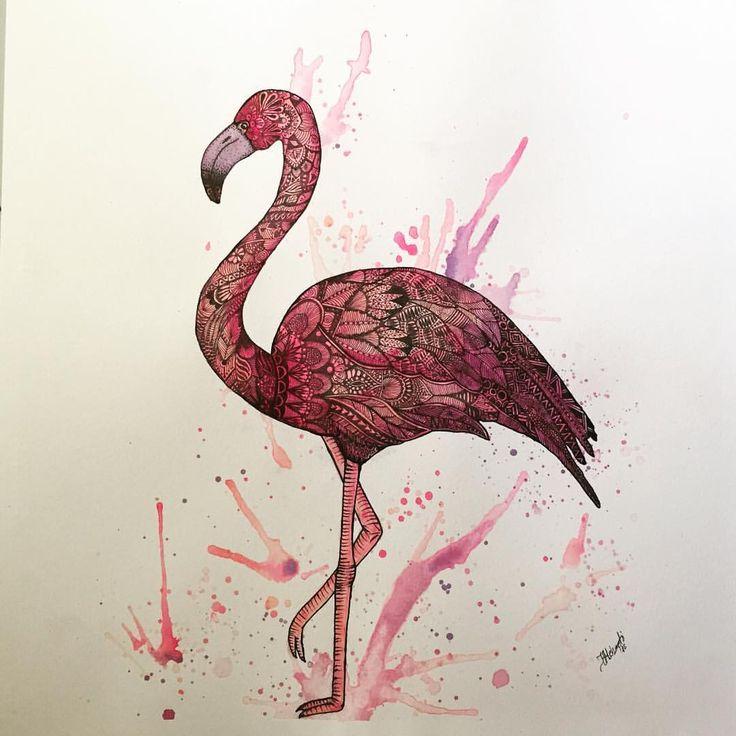 Mandala Flamingo Zentangle Pink Flamingo