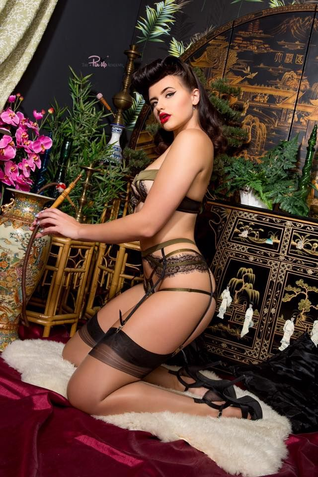 c73a698123 The Pinup Academy   Gorgeous Emma-rose   Sinical Magazine   Photo by  October Divine   Lingerie by Playful Promises
