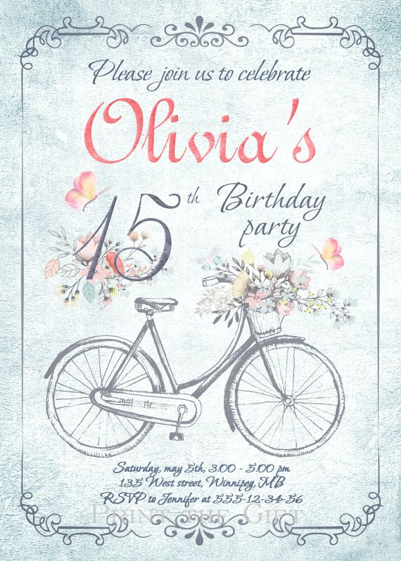 Vintage Birthday Invitation-Rustic Invitation-Country