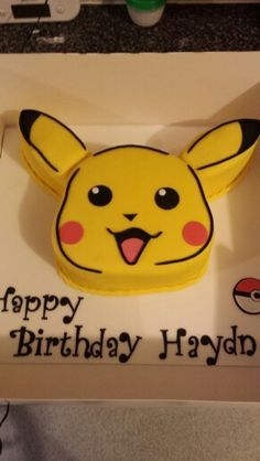 Pikachu birthday cake...