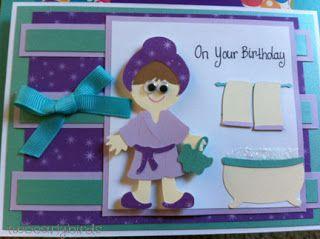 Two Early Birds: Spa Birthday Card