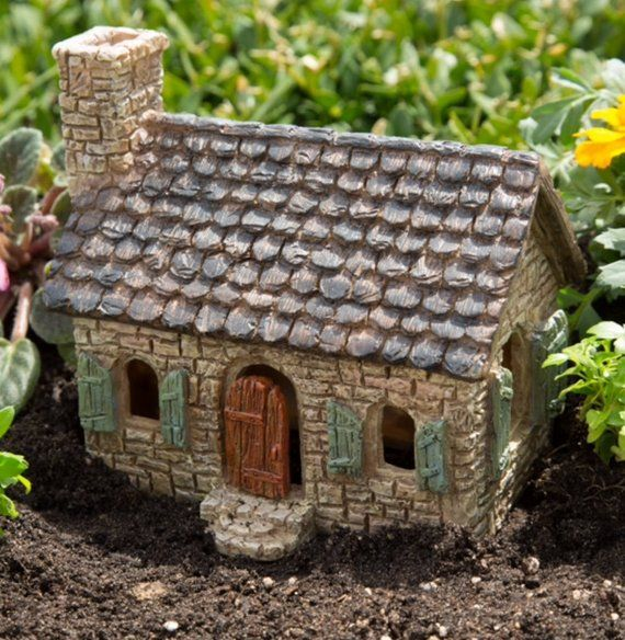 Fairy Garden House ~ Miniature Brick Cottage for Fairies ~ Little Fairy Cottage Garden Decoration ~ Fairy Garden Supply & Accessory – Fairy garden