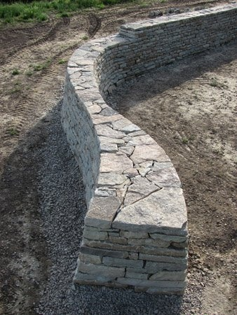 A nice free standing drystack stone wall