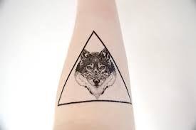 geometric wolf tattoos - Szukaj w Google