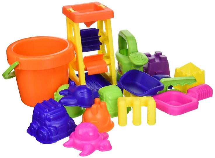 SWT4830311 Features: Product Type: -Sand toy. Finish: -Multi-Colored. Material: -Plastic. Number of Items Included: -15. Pieces Included: -sand molds, rolling truck, bucket, shovel, sieve. Dimensions: