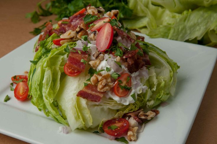 Wedge Salad with Bacon, Walnuts and Homemade Gorgonzola Dressing | Relished Foodshttps://www.relishedfoods.com/wedge-salad #recipe