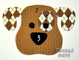 Dog Applique Pattern free from stubbornlycrafty.blogspot.com
