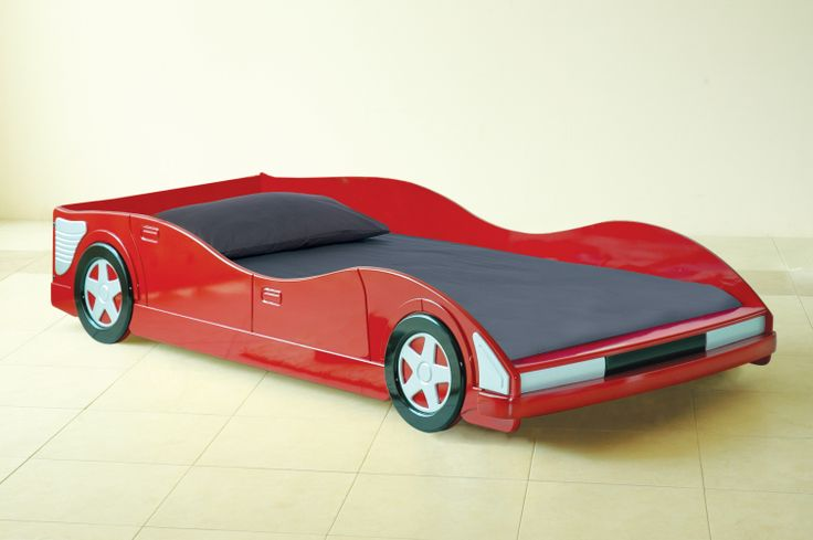 Grand Prix Single Bed The perfect novelty single bed for all aspiring Sebastian Vettels.  Available in red.  Overall dimensions when assembled: L2015mm x W947mm x H391mm