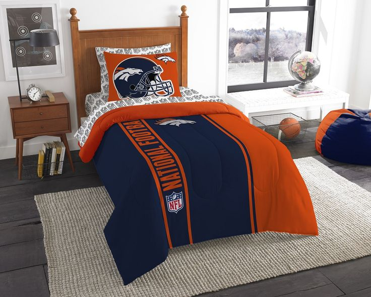 """<font color=""""RED""""><B>This item cannot be shipped to International, PO box or APO Addresses</b></font><BR> Super cozy and soft, this OFFICIAL """"Soft & Cozy"""" Twin Comforter Bed in a Bag Set by The Northwest Company will make you never want to get out of bed! The large team logo stands out from the solid background on this bold bedding fit for a true fan. This set features a soft twin size comforter, 1 printed sham, 1 flat sheet, 1 fitted sheet and 1 pillowcase. The bright colors enhance this…"""