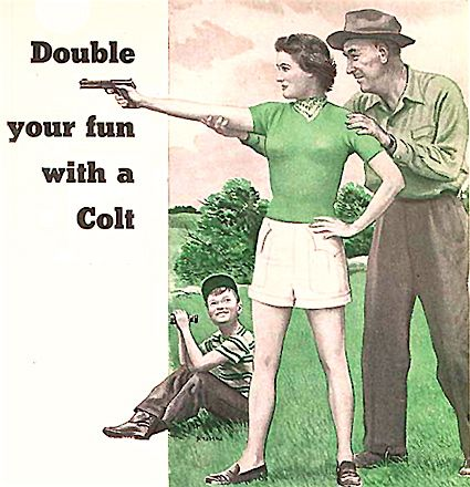 Old Vintage Ad for Colt Guns Women shooting | hunting for ...