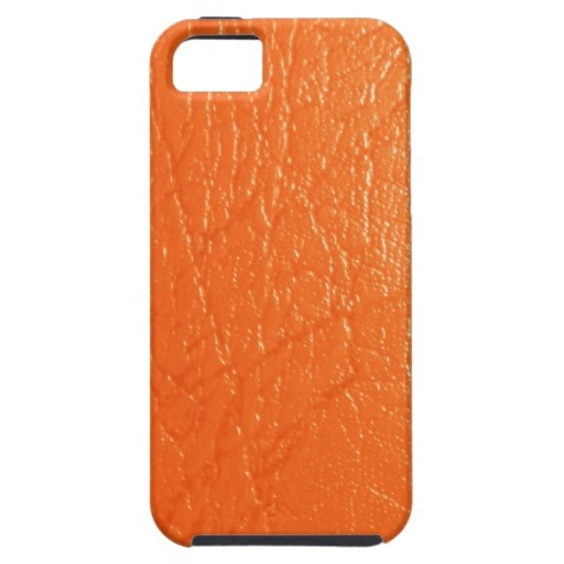 Bright orange leather texture - iPhone 5 Cover