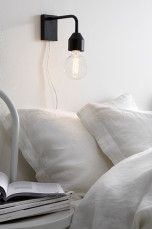 Ellos Home Væglampe Time Sort, Hvid, Grå - Væglamper            Ellos Mobile
