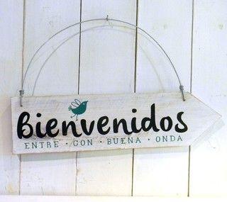 Cartel vintage flecha   Bienvenidos pajarito - comprar online