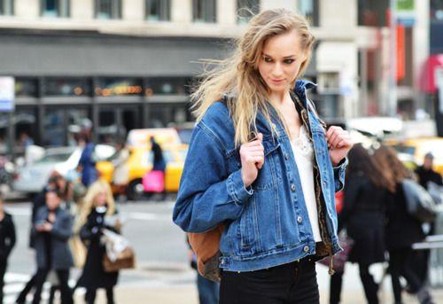 .: Streetstyl Scene, Ton Shoots, Jeans Jackets, Street Style, Denim Jackets, Fall 2012, Street Styl Scene, Tommy Ton
