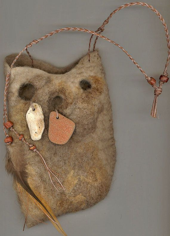 SALE Neolithic -- wet felted bag WAS 75 NOW. $70.00, via Etsy.
