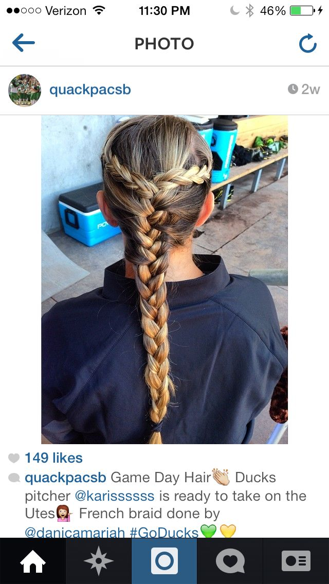 Fine 1000 Ideas About Game Day Hair On Pinterest Softball Hair Hairstyle Inspiration Daily Dogsangcom