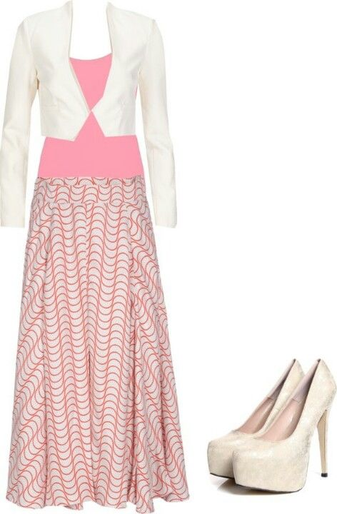 Love the skirt pattern and color